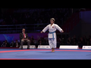 Kata UNSU. Karate Women's Kata. Sandy SCORDO of France. Finals Gold Medal Fight