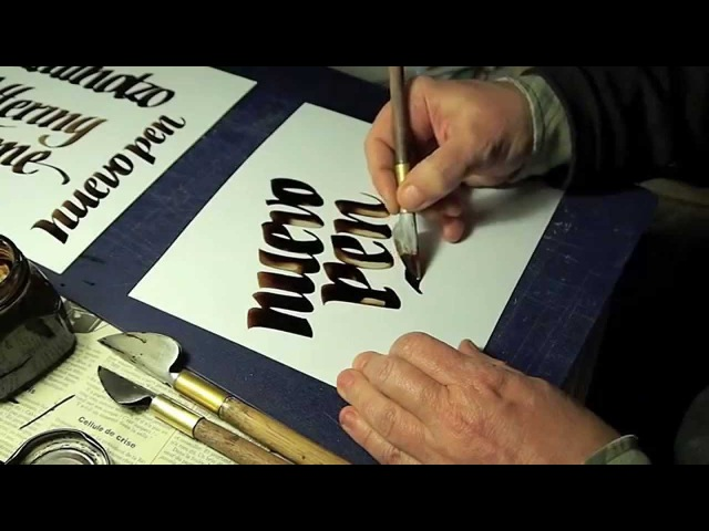 Calligraphy lettering gestual experience