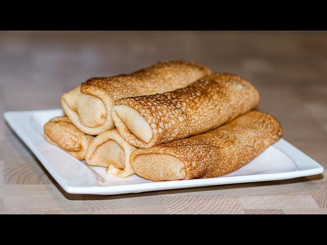 Блины на Минералке с Курицей и Грибами 🥞 Chicken and Mushroom Pancakes ○ Ирина Кукинг