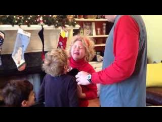 Christmas puppy surprise for kids