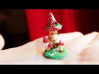 DIY: Teeny tiny mushroom fairy house tutorial