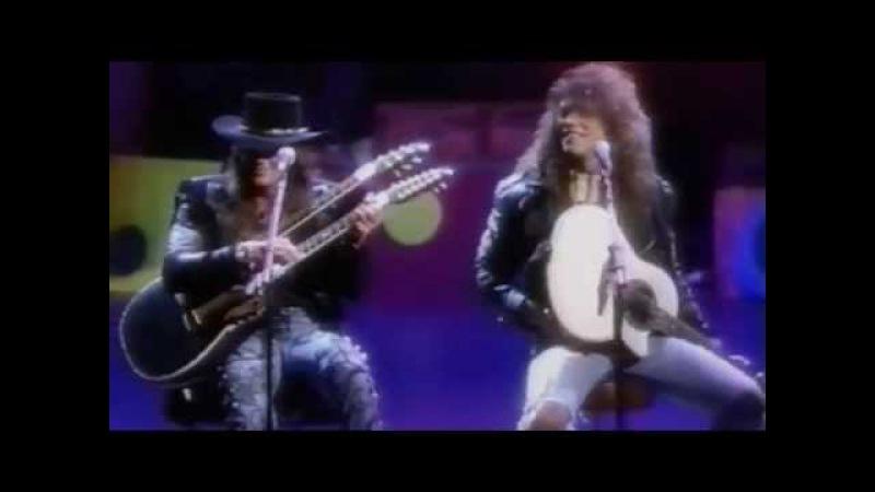 Bon Jovi Livin' On A Prayer Wanted Dead Or Alive Los Angeles 1989