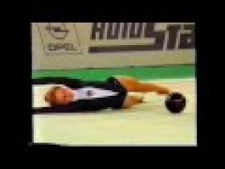 Oksana KOSTINA (URS) ball - 1990 Stuttgart Masters AA
