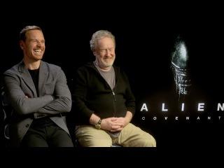 ALIEN: COVENANT Interviews: Ridley Scott, Michael Fassbender, Waterson, Crudup, McBride, Bichir
