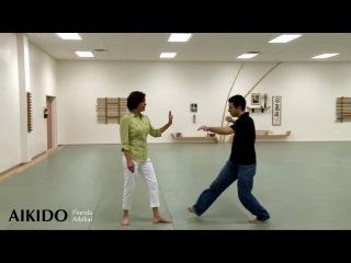 Aikido - Self Defense For Women # 12 - Penny Bernath - Strike To Side of Face - irimi nage -(защита от удара в лицо атакой в подбородок на встречном ходе)