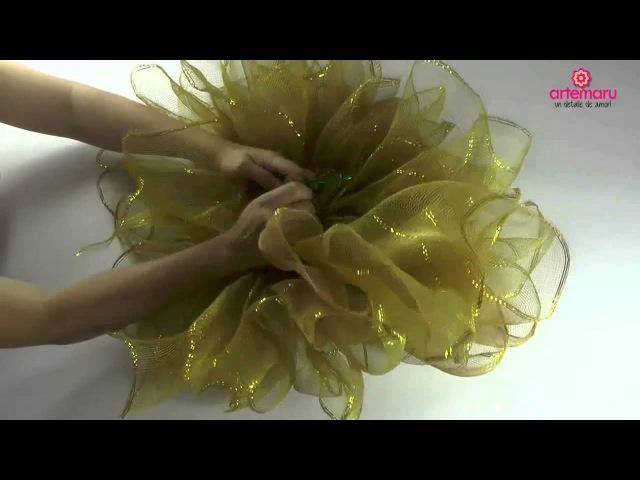 Como hacer un moño bailarina para navidadHow to make a Christmas ballerina bun