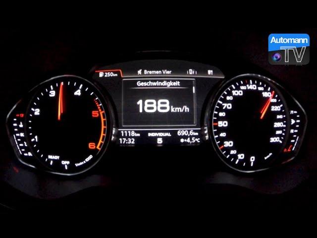 2016 Audi A4 2 0 TDI 150hp 0 180 km h acceleration 60FPS