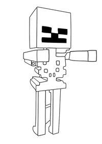как нарисовать скелета из майнкрафт #2