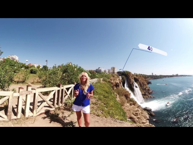 360 Video Нижний водопад Дюден Парк Дюден АНТАЛЬЯ ТУРЦИЯ