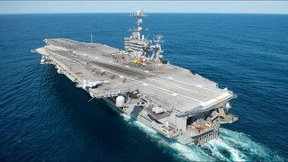 USS Harry S Truman plays cat and mouse with Russian navy   ITV News