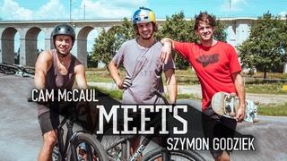 MTB Legend Cam McCaul meets up with Szymon Godziek.   McCaul Meets