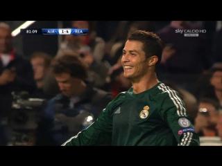 Хет-Трик Криштиану Роналду в ворота Аякса (03/10/2012)