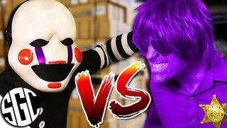 PUPPET MASTER VS PURPLE GUY! Real Life FNAF Sister location Hide N Seek!