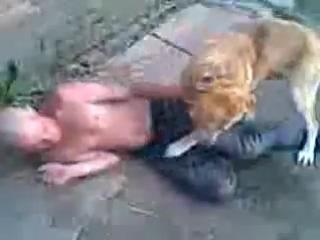 Собака еб*т мужика
