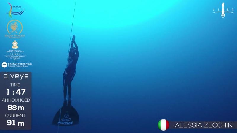 AIDA WCh Roatan 2017 Zecchini Alessia CWT SILVER