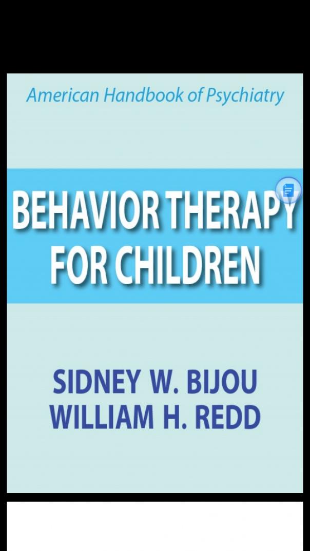 behavior therapy for children