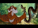 The Jungle Book 1967 Scene Searching for a Man Cub Shere Khan Kaa