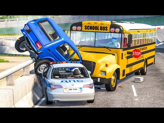 Скоростные погони и фатальные аварии Игры про тачки и гонки Разбиваем машины в хлам