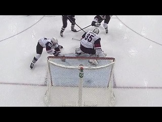 Alex Goligoski uses swift stick to save a goal 12/5/16