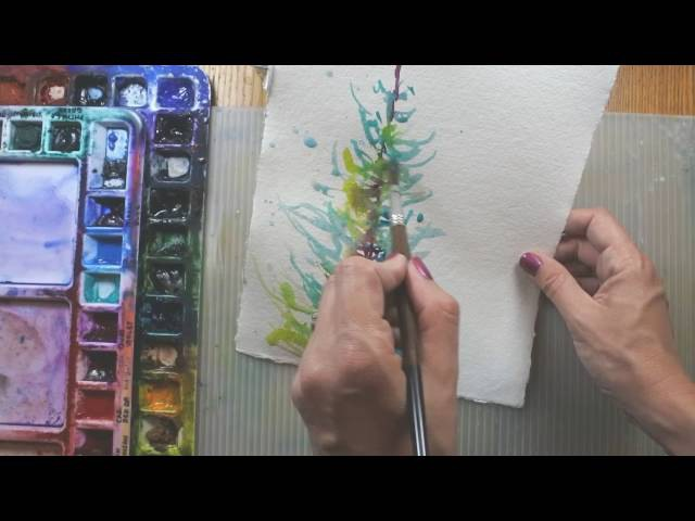 Adventurous Watercolor Painting Trees Studio Warm Up with Angela Fehr