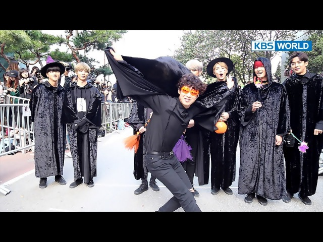 On The Way to Music Bank - A sneak peek at SF9's Halloween costumes! (2017.10.27)