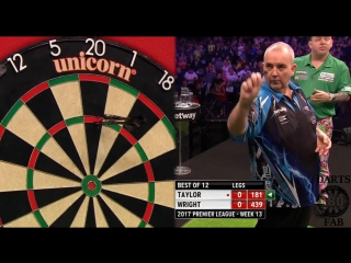 Phil Taylor vs Peter Wright (2017 Premier League Darts / Week 13)