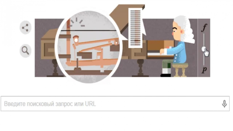 Google Doodle Бартоломео Кристофори
