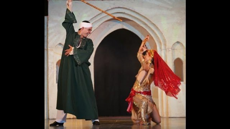 Saidi belly dance with stick Amira Abdi and Magdy el Leisi