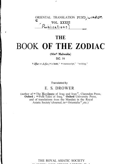 the book of the zodiac drower