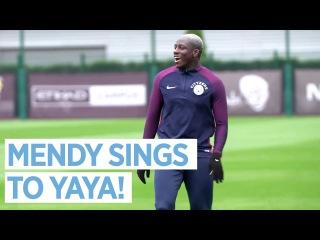 MENDY SINGS TO YAYA TOURE! | Man City Training
