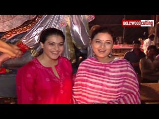 Kajol Spotted At North Mumbai Durga Puja