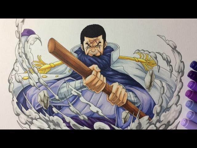 Drawing Admiral Fujitora (Issho) - One Piece