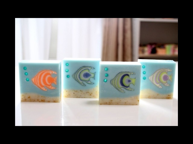 Soapmaking and Cutting Tropical fish soap, Handmade in Primadonna