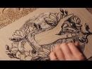 Linocut Printmaking Process by Maarit Hänninen