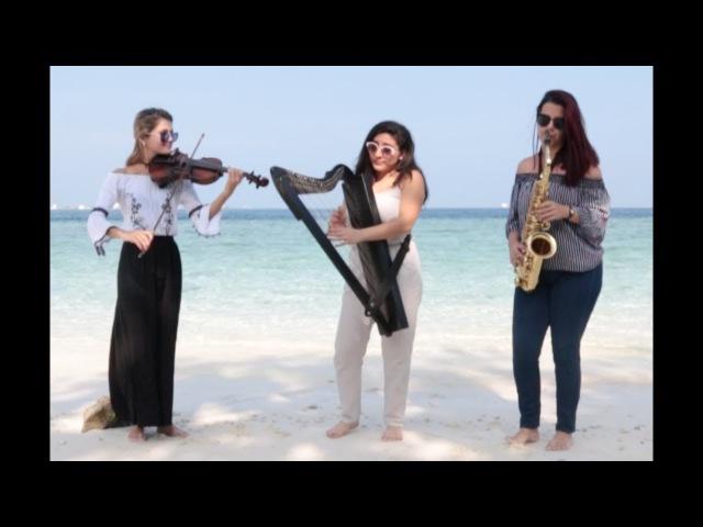 Despacito Cover Harp Saxophone Violin by Sound Spirit Trio. For Shows: 91 98207 46266