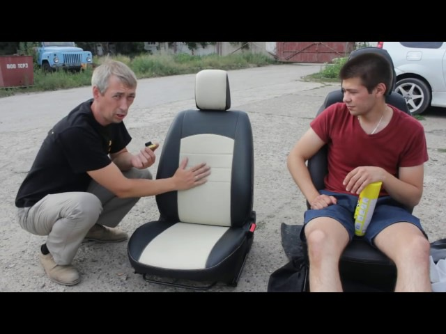 Установка чехлов SEATEX Стиль на Ладу Весту
