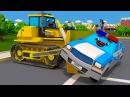 Мультики для детей - Полицейская Машина и Скорая Помощь - ГРАБИТЕЛЬ В ГОРОДЕ - Мул