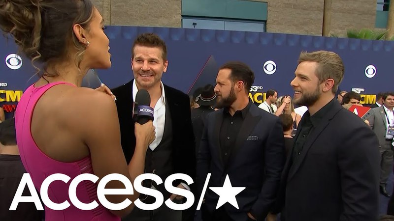 ACM Awards 2018 SEAL Team's'David Boreanaz Max Thieriot A J Buckley Talk Love Of Country Music