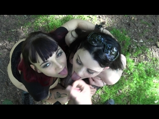 Alissa noir & leah obscure riskanter waldfick (1080p) [amateur, gothic girl, threesome, outdoor, pussy fuck, facial, pov]