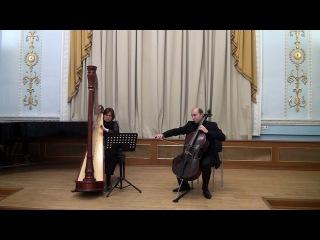 Claude Debussy. Beau Soir for Cello & Harp