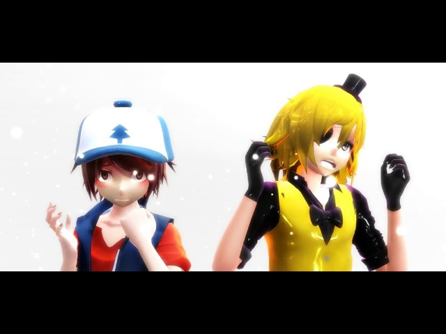 MMD Attention Dipper Pines and Bill Cipher Gravity Falls