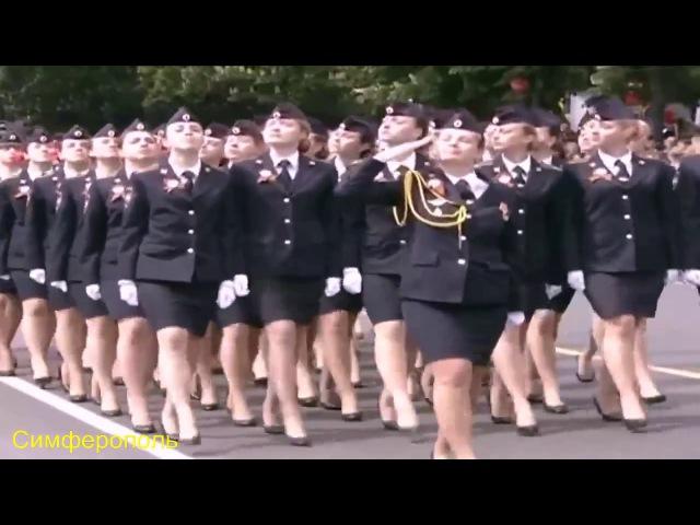 Российские женщины на параде Победы 2017 От Владивостока до Калининграда