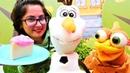 Çocuk videoları Karlar Ülkesi Olaf'ın kek ülkesine yolculuğu Yemek yapma oyunu