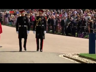 Prince Harry and William arrive for the
