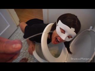 Bruce and morgan toilet masked slave girl