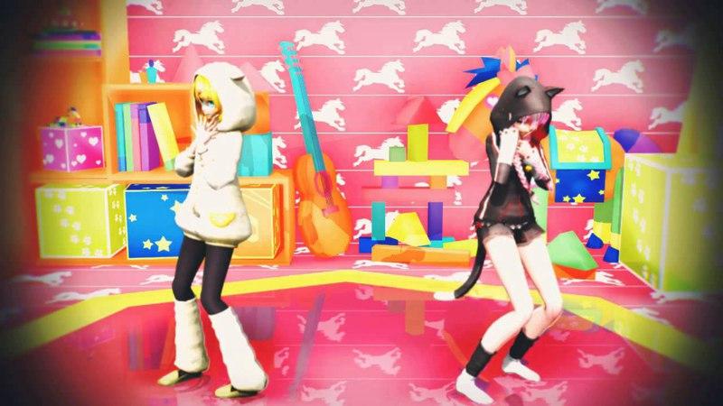 【 MMD 】 drop pop candy 【 TDA Alparka Rin Kitty Ears Luka 】 【 HD 720 】