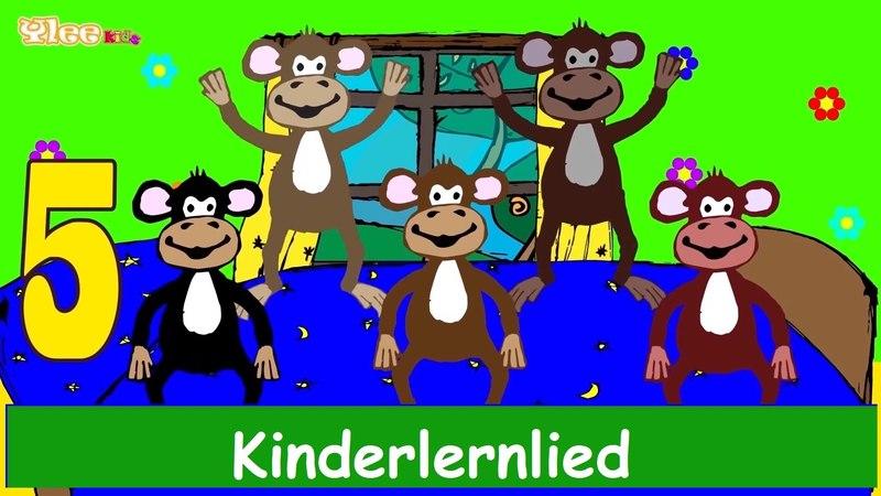 Fünf kleine Affen - Kinderlied-Lernlied in Deutscher Sprache -Sing mit Yleekids