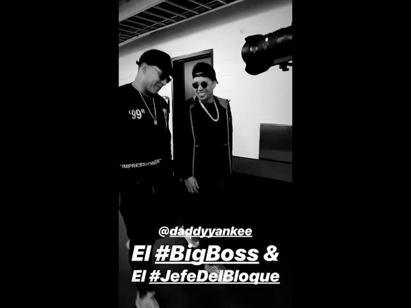De la Ghetto Instagram Stories w Daddy Yankee - los ensayos de PLN 2019