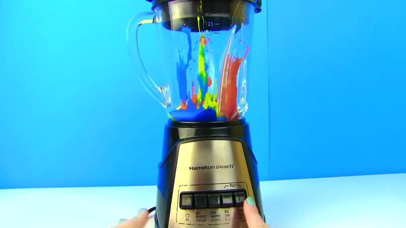 [MY TOYS PINK] БЛЕНДЕР ПРОТИВ ЛОЖКИ СЛАЙМ ЧЕЛЛЕНДЖ! Blender Slime Challenge Лизун Своими Руками