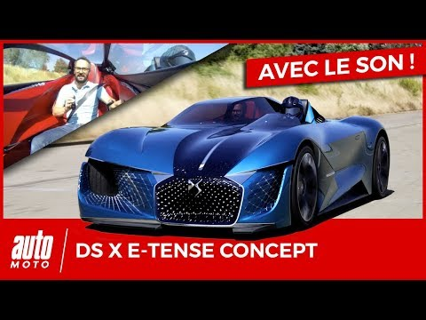 DS X E-Tense lessai sur piste du concept-car Double-Face